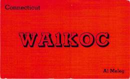 Amateur Radio QSL - WA1KOC - Connecticut -USA- 1973 - 2 Scans - Radio-amateur