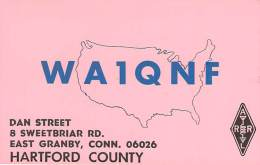 Amateur Radio QSL - WA1QNF - East Granby, CT -USA- 1974 - 2 Scans - Amateurfunk