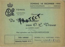 Merksem :  Toneel  1955 -  Bartschouwburg ( 2 Scans ) - Belgique