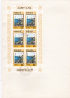 Gibraltar FDC 1977 Europa CEPT  Souvenir Sheet (L71-41) - Europa-CEPT