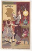 CHROMO CHOCOLAT GUERIN BOUTRON L'OMBRE LE CHINOIS   LES ENFANTS - Guerin Boutron