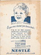 Buvard Publicitaire Nestlé - Milchprodukte