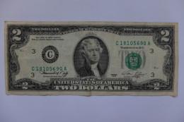 BILLET U.S.A. - P.461 - 1976 - 2 DOLLARS - BICENTENAIRE INDEPENDANCE - JEFFERSON - Federal Reserve Notes (1928-...)