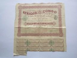 Société Agricole Commerciale Et Industrielle Afrique Et Congo - Paris - Capital 2 000 000 - Action De 100 Francs - Afrique