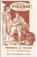 BUVARD VETEMENTS DE TRAVAIL VULCAIN à LYON  SCOOTER - Buvards, Protège-cahiers Illustrés