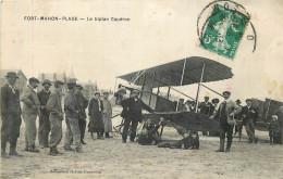 80 - FORT MAHON - Biplan Caudron - Plage - Aviation - Fort Mahon