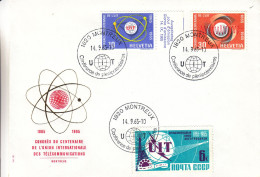Suisse - Document De 1965 -oblit Montreux - UIT -télécommunications- Conférence De Plénipotentiaires - Avec Timbre Russe - Lettres & Documents