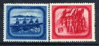 ROMANIA 1952 Sports Set Of 2  MNH / **.  Michel 1411-12 - 1948-.... Republics