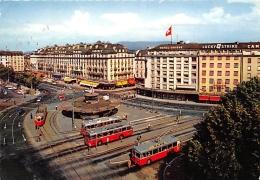 GENEVE  PLACE DE CORNAVIN  CACHET LYON SALON DE L'AUTO PARIS 1969 (TIMBRE SUISSE) - GE Geneva