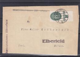 Allemagne - Empire - Lettre De 1927 - Oblitération Elberfeld - Vignette De Fermeture - Deutschland