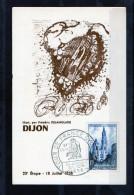 Tour De France 1958 - DIJON - Carte N°24 - Illustrateur Frédéric Delanglade - Radsport