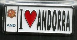 """I Love Andorra"", Magnet, Avec Blason,  Posté Depuis L'Andorre. - Tourisme"