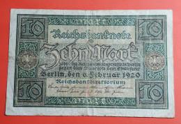 Billet/Allemagne 10 Mark Reichsbanknote / 6 Févriér 1920 Voir Photos - [ 3] 1918-1933 : Weimar Republic