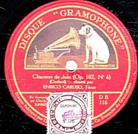 78 T.- 30 Cm - état B  - CARUSO - Chanson De Juin - Valse Lente - 78 Rpm - Gramophone Records