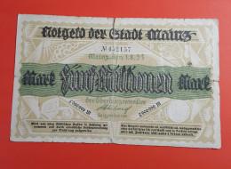 Billet/Allemagne 5 000 000 Mark Reichsbanknote / Mainz-den 1.8.1923 Billet Avec Sceau Voir Photos - 5 Millionen Mark
