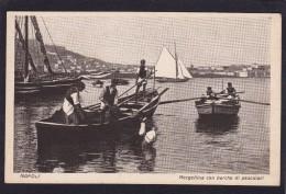 Old Post Card Of Mergellina Con Barche Di Pescatori,Napoli,Naples, Campania, Italy.,J43. - Napoli (Naples)