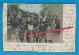 C.P.A. Côte D'Ivoire - Tam-Tam Et Femmes Baoulés - Côte-d'Ivoire