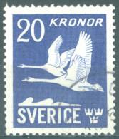 SWEDEN - 1942 - USED/OBLIT. - CYGNES - Mi 290B Yv PA 7 - Lot 14409