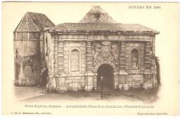 ANVERS EN 1866   ---   Porte Kipdorp,dégagée  -- Actuellement Place De La Commune ( Théâtre Flamand ) - Antwerpen