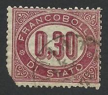 Italy, 30 C. 1875, Sc # O4, Mi # 4, Used - 1861-78 Vittorio Emanuele II