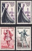 FRANCE 1953 - LOT N ° Y. T. 941 X 2  / 943 / 957  - 4 TP OBLITERES - FF628 - France