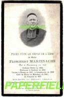 Pieux Souvenir Maître Floribert MARTINACHE - HORNAING 1826- FRESSAIN 1901- ROUBAIX, RONCQ, GOMMEGNIES, BAIVES, MOUSTIERS - Images Religieuses
