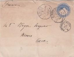 EGYPTE 1897  LETTRE ENTIER CAIRE POUR LA FRANCE NIMES MONTCENIS A MACON    / 165 - Egypt