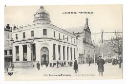 CLERMONT-FERRAND (cpa 63)   Le Crédit Lyonnais  Place De Jaude   -  L 1 - Clermont Ferrand