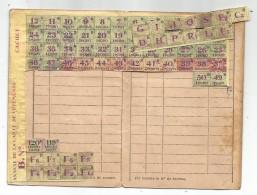 CARTE DE VETEMENTS ET ARTICLES TEXTILES COMPRENANT TICKETS NUMEROTES-DELIVRE PAR LA MAIRIE DE HASNON - Documents