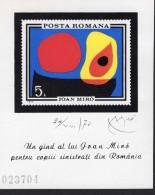 Rumänien Block 081 Gemälde Von Joan Miró MNH  Postfrisch ** - Blocchi & Foglietti