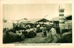 GUINEA ESPAÑOLA. UN ASPECTO DEL DESEMBARCADERO DE SANTA ISABEL - Guinea Ecuatorial