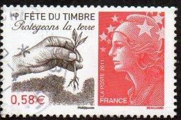 France Oblitération Cachet à Date N° 4534 - Fête Du Timbre - Protégeons La Terre - Oblitérés