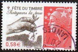Oblitération Cachet à Date Sur Timbre De France N° 4534 - Fête Du Timbre - Protégeons La Terre - France