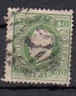 Portugal  Don Luiz I  YT N°41   50r Vert - Oblitérés