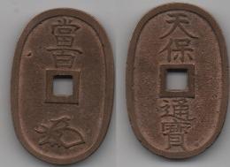 + JAPON + 100 MON Ou TEMPO TSUHO 1835 - 1870 + - Japan