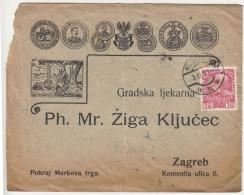 Preprinted Gradska Ljekarna Zagreb Ompany Letter Sent 1911 Wien To Zagreb B160802 - Briefe U. Dokumente