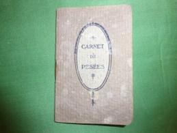 Petit Carnet -carnet De Pesees  De Bebe - Pub Sirop De Deschiens Pour Anemie Allaitement Surmenage Etc.. - Unclassified