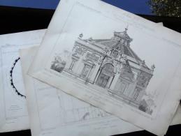 LE RECUEIL D´ARCHITECTURE  1878 -  # 32 - NOUVEAU PANORAMA DES CHAMPS-ELYSÉES À PARIS Mr Chles GARNIER Architecte - Architecture