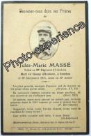 Faire Part Décès Photo Guerre 14-18 Militaire Régiment WW1 SOUCHEZ Pas-de-Calais 62 - Overlijden