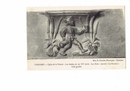 41 - Vendome - Eglise De La Trinité - Les Stalles - Les Mois - Janvier - Le Buveur - Homme Verre Carafe - Vendome