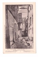 Chat Troyes La Rue Des Chats Au Clair De Lune Illustration Illustrateur - Chats