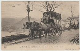 LA MALLE POSTE DES CEVENNES A SON DEPART DU PUY (43) - ROUTE DE SAUGUES - LE VELAY ILLUSTRE 326 - Le Puy En Velay