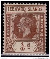 Leeward Islands 1921-1932, King George V, 1/4p, Scott#61, MLH - Leeward  Islands