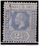 Leeward Islands 1921-1932, King George V, 2 1/2p, Scott#70, Used - Leeward  Islands