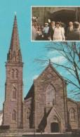 ST MARY'S CHURCH - NEWPORT, R. I. - SUPERBE CARTE PHOTO COULEUR MARIAGE J.F.KENNEDY ET JACQUELINE LEE BOUVIER - TOP !!! - Présidents