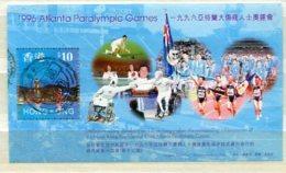 """HONG-KONG :  Y&T BF N° """" JO Paralympique D'Atlanta 1996 """" - Summer 1996: Atlanta"""