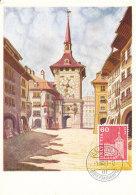 D24923 CARTE MAXIMUM CARD 1961 SWITZERLAND - CITY OF BERN CLOCK TOWER CP ORIGINAL - Architecture