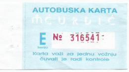 Bus Ticket From Serbia,used - Bus