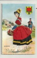 Auvergne   Avec Vêtement En Tissu - Costumes