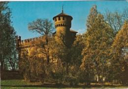 Italy Torino Castello Medievale visto dai Giardini del Valentino